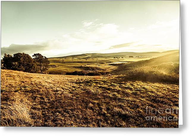 Oatlands Rolling Hills Greeting Card by Jorgo Photography - Wall Art Gallery