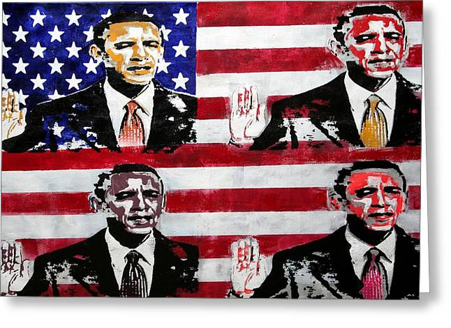 Obama 2 Greeting Card by Jorge Berlato