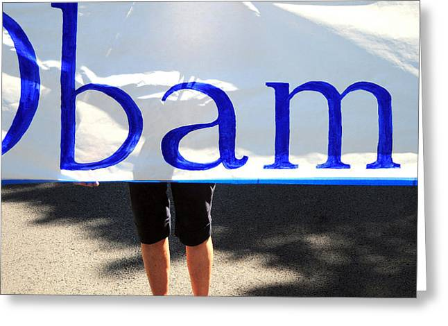 Obama Banner. Greeting Card