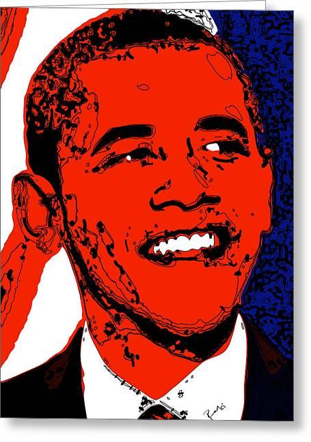 Obama Hope Greeting Card by Rabi Khan
