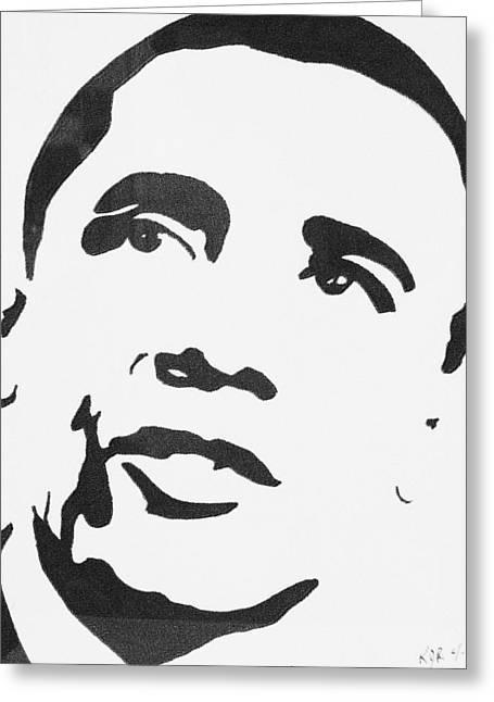 Obama Greeting Card by Kenneth Regan