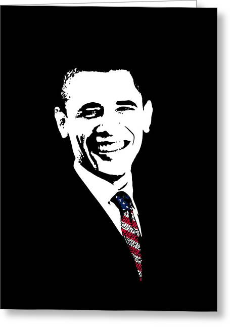 Obama Greeting Card by War Is Hell Store