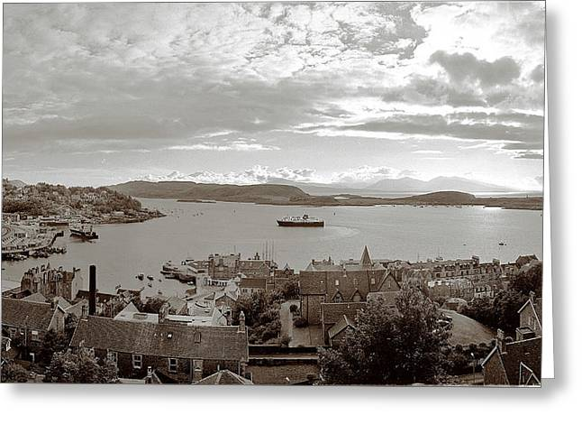 Oban - The Mull Ferry Greeting Card by Jan W Faul