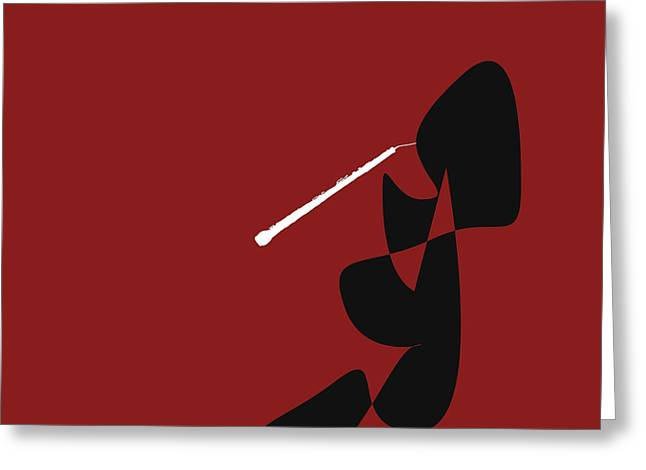 Obeo In Orange Red Greeting Card