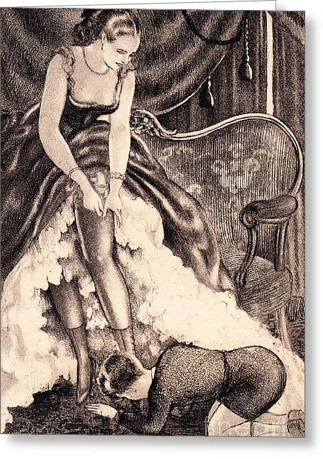 Obey The Mistress Greeting Card by Davanzo