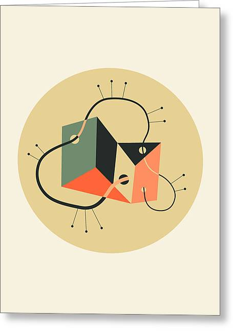 Objectified 20 Greeting Card by Jazzberry Blue