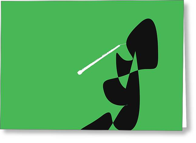 Oboe In Green Greeting Card