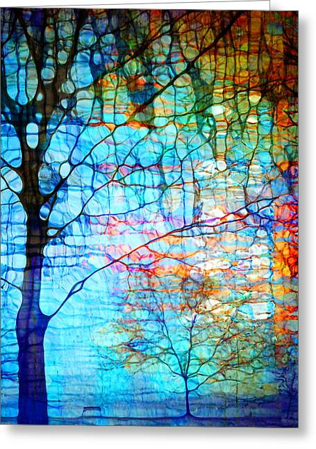 Obscured In Blue Greeting Card