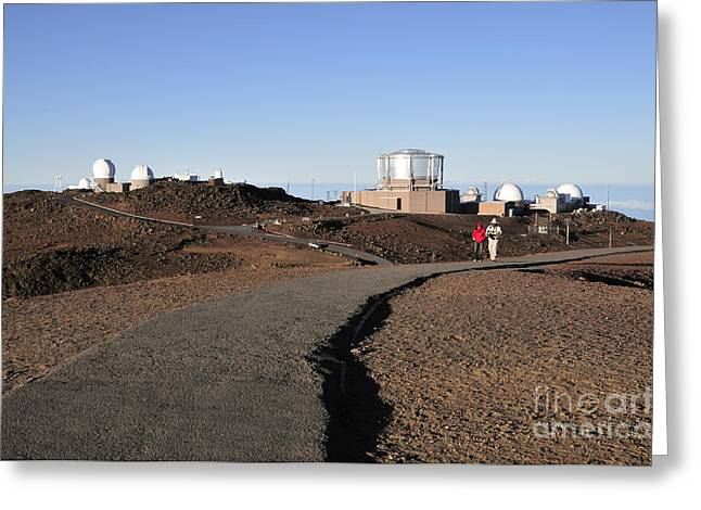 Observatories On Haleakala Greeting Card by Andy Smy