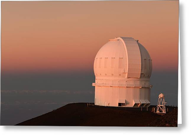 Observatory Atop Mauna Kea Greeting Card by Jennifer Ancker