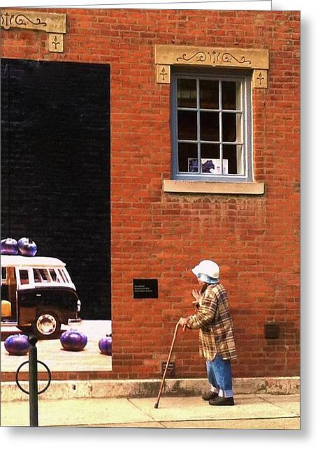 Observing Building Art Greeting Card