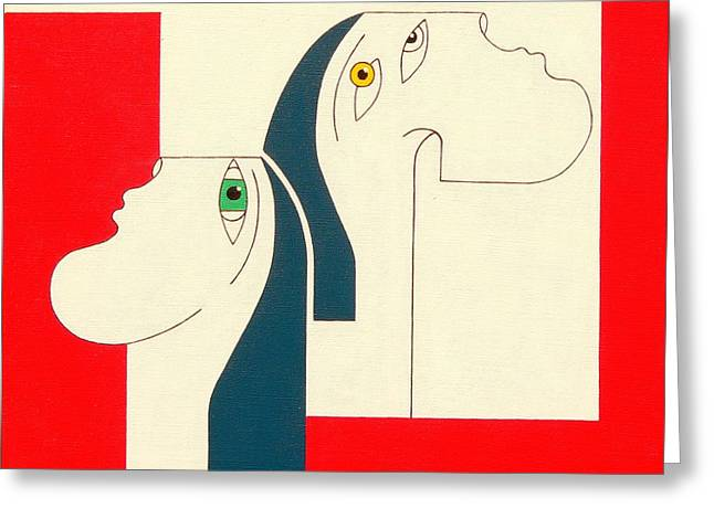 Obstinate Greeting Card by Hildegarde Handsaeme