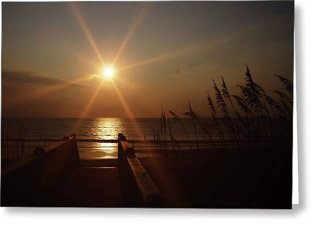 Obx Sunrise Greeting Card by JAMART Photography