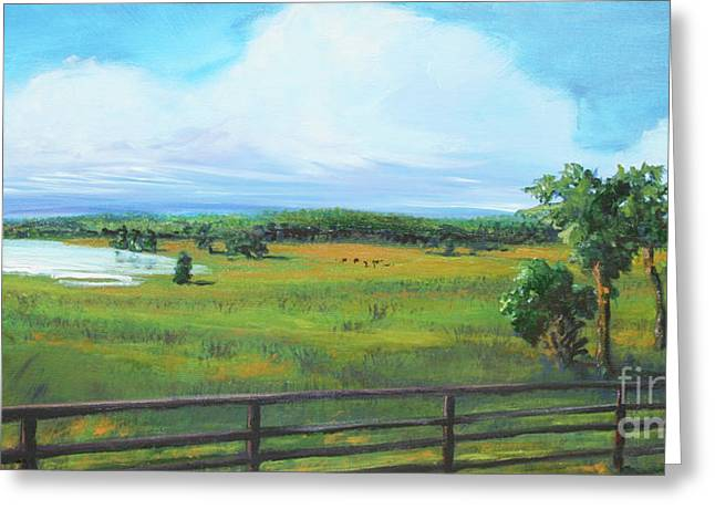 Ocala Downs Greeting Card by Michele Hollister - for Nancy Asbell