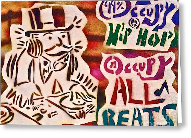 Occupy All Beats Greeting Card by Tony B Conscious