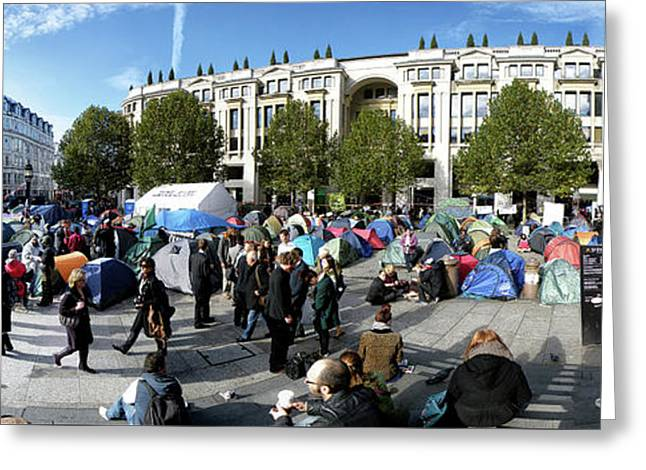 Occupy London Greeting Card by Philip Openshaw