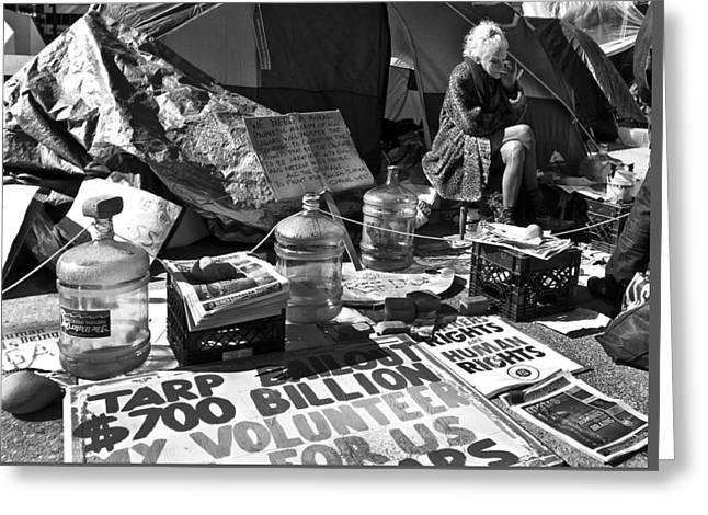 Occupy Woman Greeting Card by David Oakill