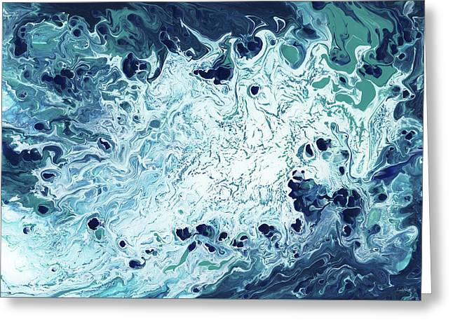 Ocean- Abstract Art By Linda Woods Greeting Card