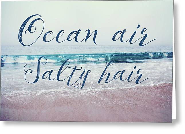 Ocean Air Salty Hair Greeting Card