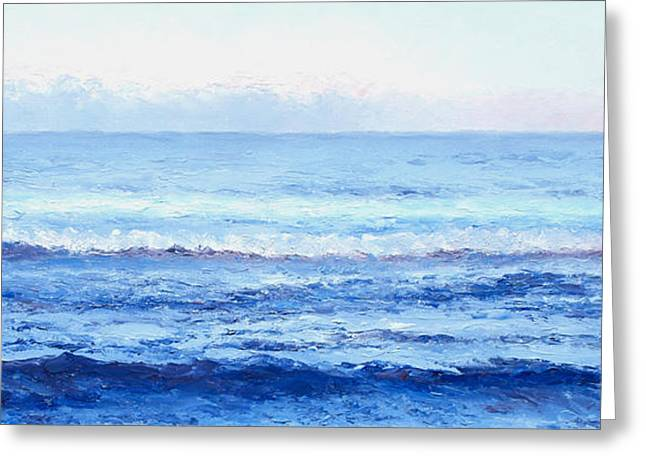 Ocean Art - Cobalt Blue Ocean Greeting Card by Jan Matson