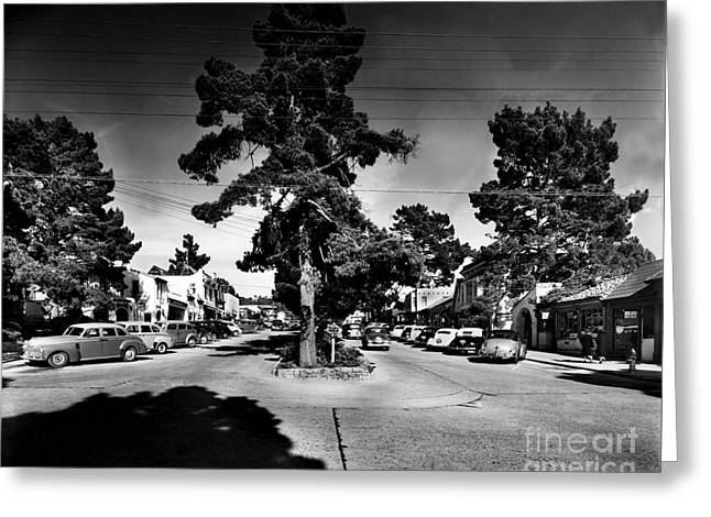Ocean Avenue At Lincoln St - Carmel-by-the-sea, Ca Cirrca 1941 Greeting Card