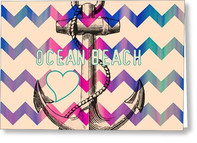 Ocean Beach Anchor Greeting Card