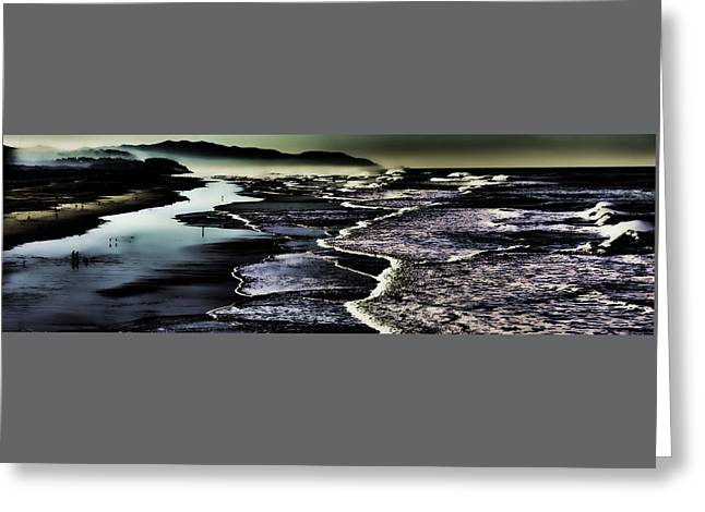 Greeting Card featuring the photograph Ocean Beach Night by Steve Siri
