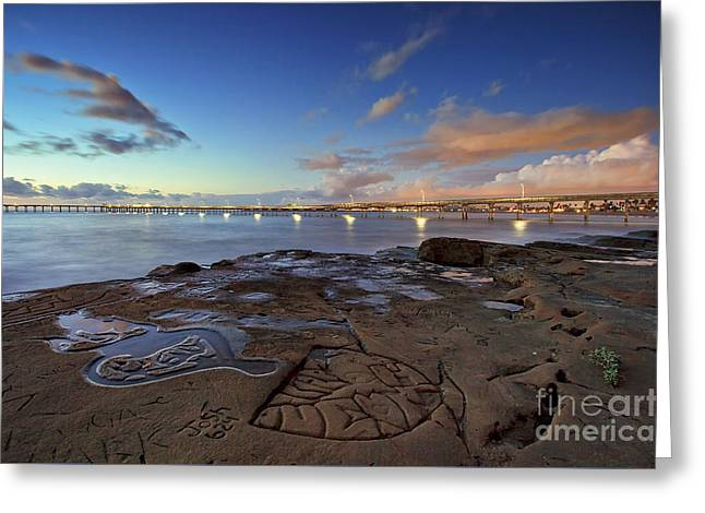 Ocean Beach Pier At Sunset, San Diego, California Greeting Card