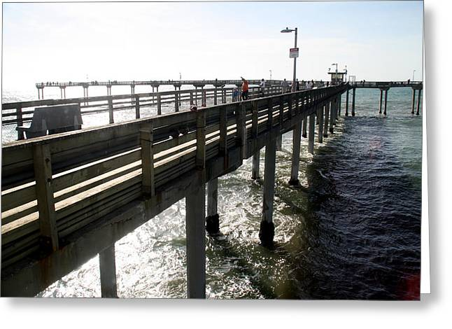 Greeting Card featuring the photograph Ocean Beach Pier by Christopher Woods