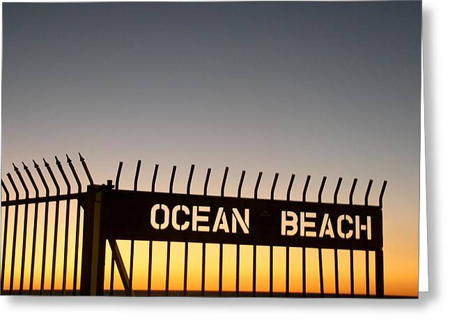 Ocean Beach Pier Gate Greeting Card