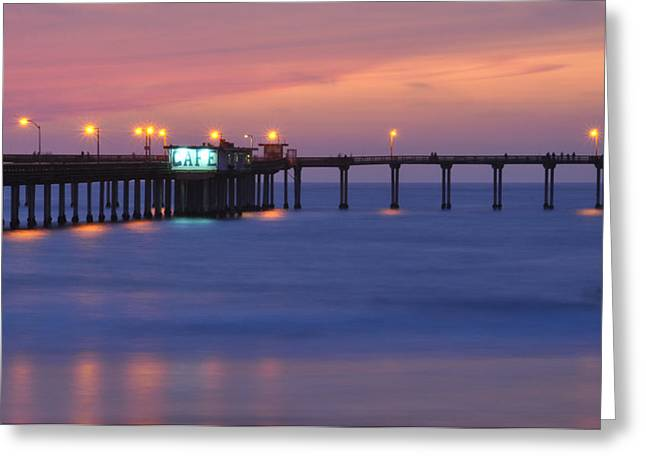 Ocean Beach Pier Greeting Card by Kelly Wade