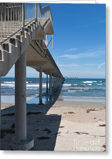 Ocean Beach Pier Stairs Greeting Card