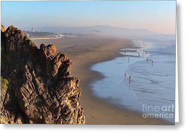 Cliffs At Ocean Beach - San Francisco - California Greeting Card by Carlos Alkmin