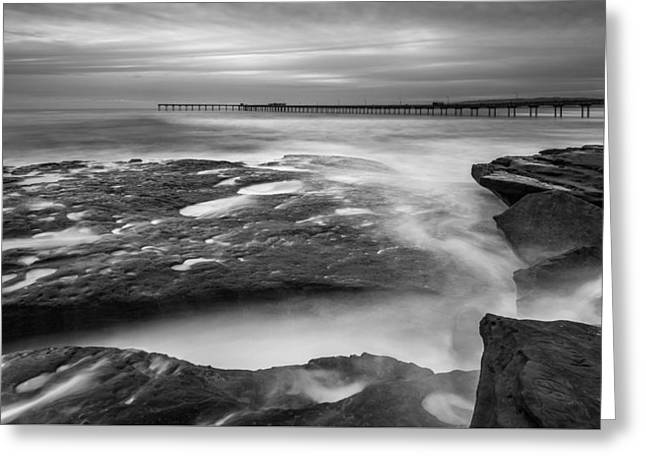 Ocean Beach Tidepools And Pier Greeting Card by Alexander Kunz