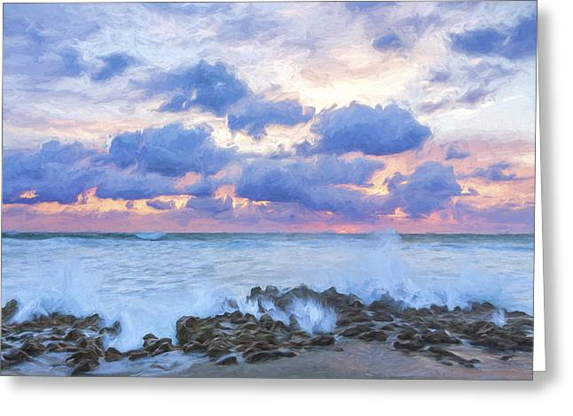 Ocean Blooms II Greeting Card by Jon Glaser