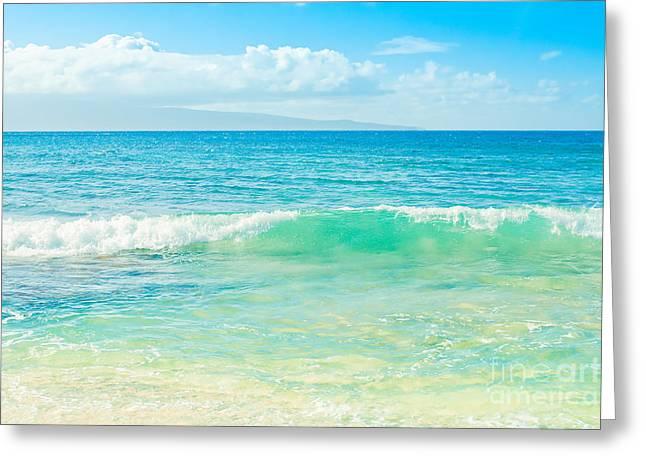 Ocean Blue Beach Dreams Greeting Card by Sharon Mau