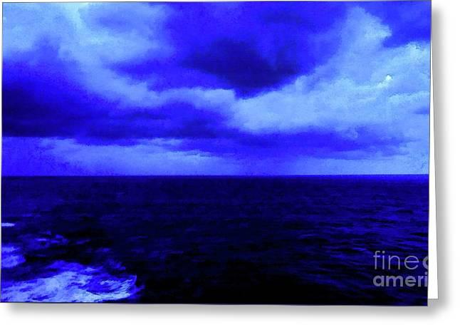 Ocean Blue Digital Painting Greeting Card