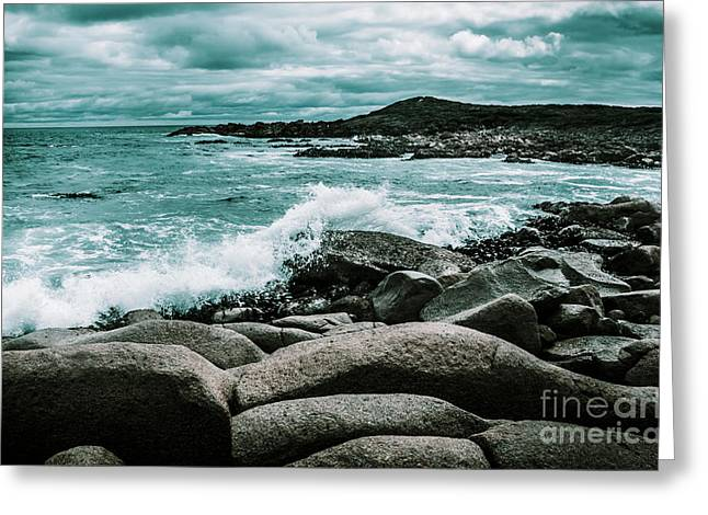 Ocean Blue Granville Harbour Greeting Card