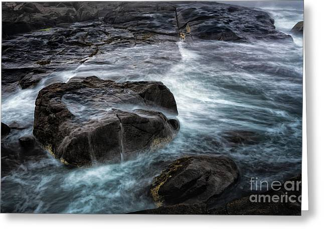 Ocean Boulder Greeting Card by Scott Thorp