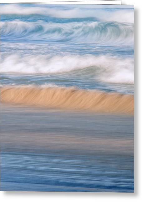 Ocean Caress Greeting Card by Az Jackson