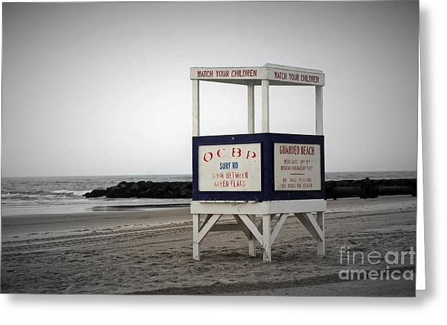 Ocean City Beach  Greeting Card by Denise Pohl