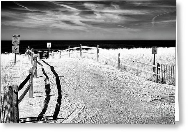 Ocean City Beach Entry Greeting Card by John Rizzuto