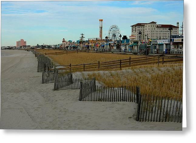 Ocean City Beckons Greeting Card by My Lens and Eye   - Judy Mullan -