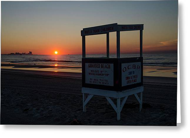 Ocean City - Great Egg Harbor Inlet Sunrise Greeting Card