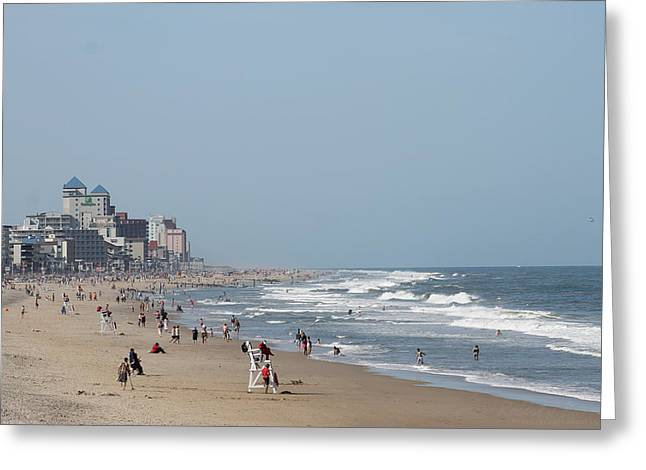 Ocean City Maryland Beach Greeting Card