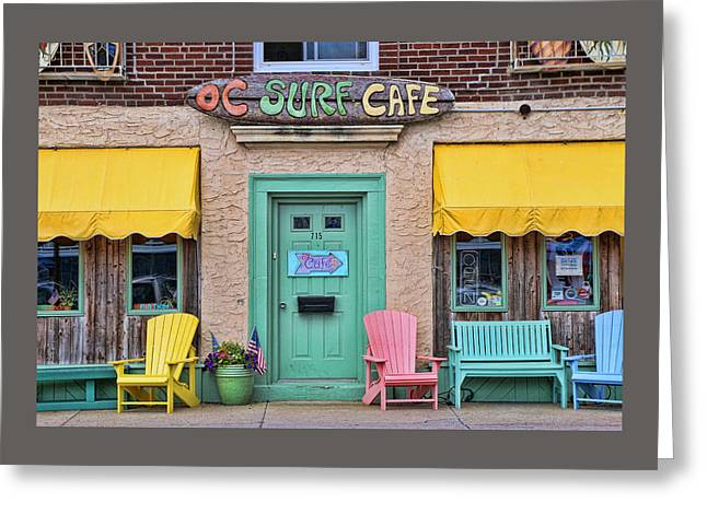 Ocean City N J Surf Cafe Greeting Card