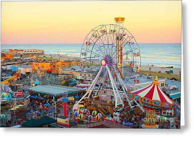 Ocean City New Jersey Boardwalk And Music Pier Greeting Card