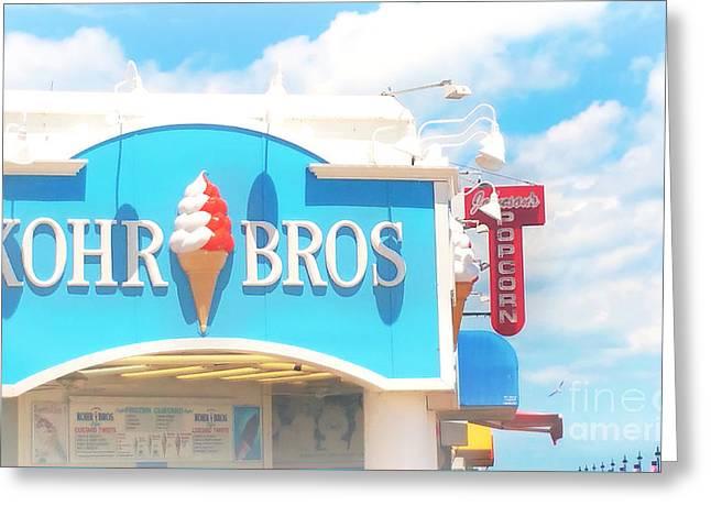 Ocean City Nj Kohr Bros Johnson Popcorn Greeting Card