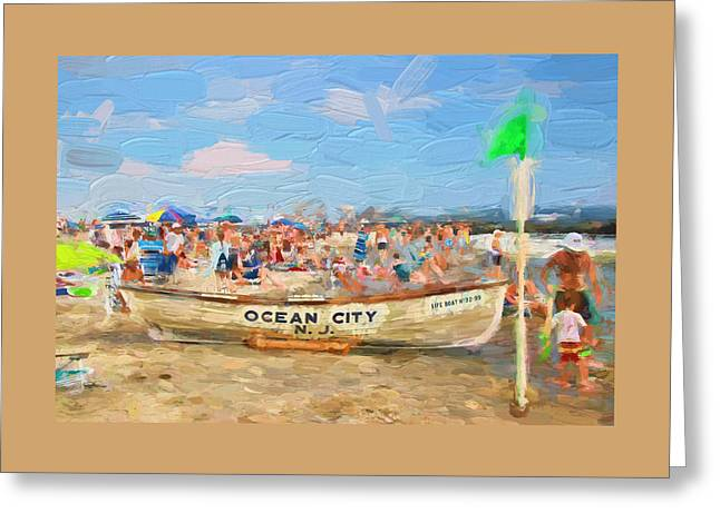 Ocean City Rescue Boat 2 Greeting Card