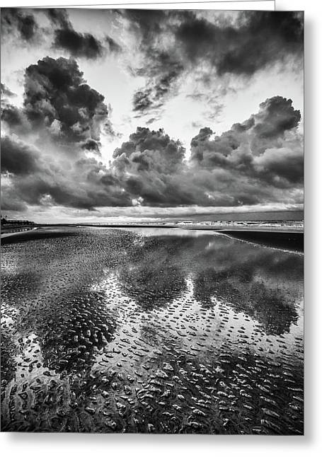 Ocean Clouds Reflection Greeting Card